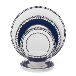 Akoya Bone China 5-piece Cobalt Place Setting