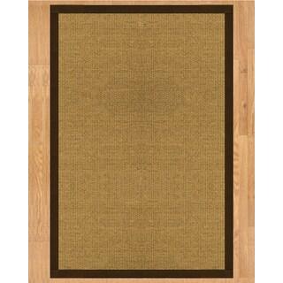 Handcrafted Nagoya Natural Sisal Rug - Dark Brown Binding, (2' x 3')