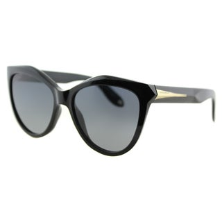 Givenchy GV 7009 QOL Black Plastic Cat-Eye Grey Gradient Lens Sunglasses