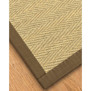Handcrafted Australia Natural Seagrass Rug - Taupe Binding, (8' x 10')
