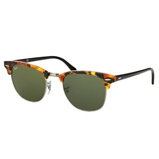 Ray-Ban RB3016 Clubmaster Havana Frame Green Lens Sunglasses
