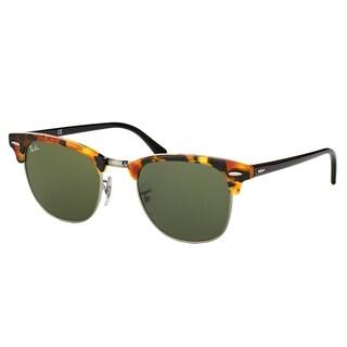 Ray-Ban RB3016 Clubmaster Havana Frame Green Lens Sunglasses
