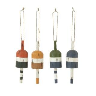 Benzara Multicolored 4 Assorted Buoys