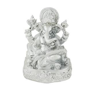 Silver Ganesh Statue by Benzara