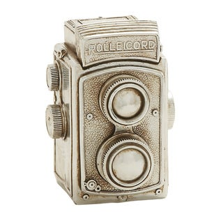 Benzara Antique Themed Silver Camera Decor
