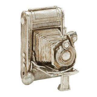Benzara Silver Camera Decor