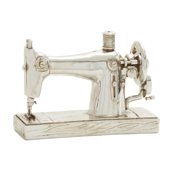 Benzara silver sewing machine decor free shipping on for Best home decor sewing machine