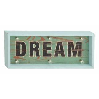 Benzara Wood Led Dream Sign