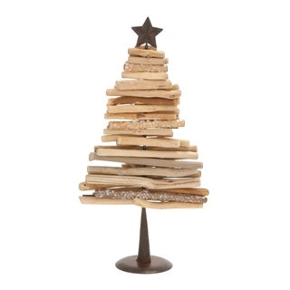 Driftwood Metal Xmas Tree
