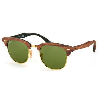Ray-Ban Clubmaster Wood RB 3016M 11824E Walnut Clubmaster Plastic - 51mm Sunglasses