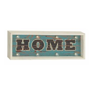 Benzara Wood Led Home Sign