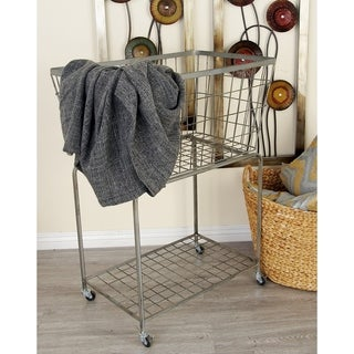 Benzara Metal Roll Storage Basket