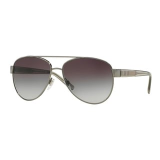 Burberry Women's BE3084 10038G Gunmetal Metal Pilot Sunglasses