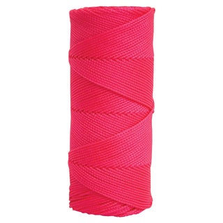 Fluorescent Pink Braided Mason's Line - 250' Tube
