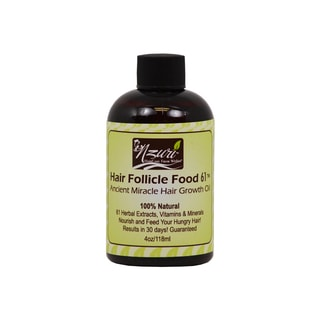 Nzuri Hair Follicle Food 61 Ancient Miracle Hair Growth 4-ounce Oil