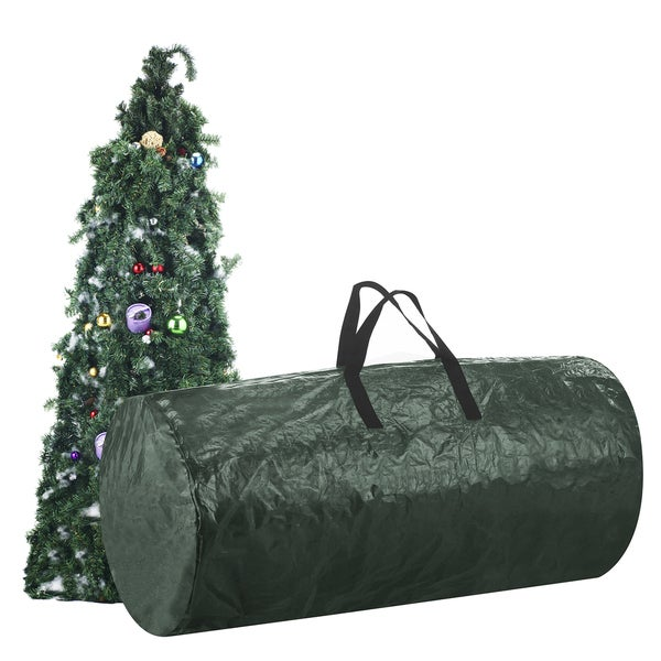 Elf Stor Premium Holiday Dark Green Fabric And Plastic Extra Large For 9 X27