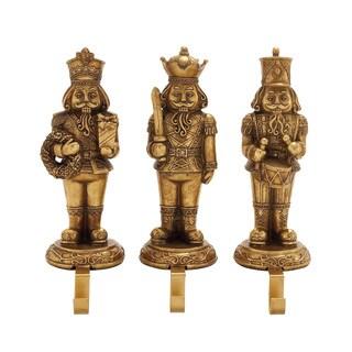 Benzara 3 Assorted Stocking Holder in Gold