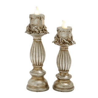 Benzara Set of 2 LED Candle Light