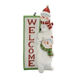 Benzara Snowman Welcome Sign