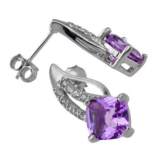Haven Park 7mm Amethyst and White Topaz Earrings