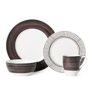 Mikasa Cadence Walnut Porcelain 4-piece Place Setting