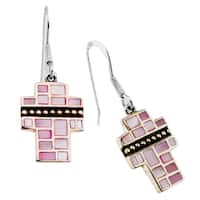 Haven Park Mother of Pearl Cross Earrings - White