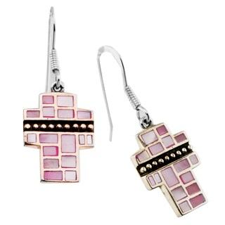 Haven Park Mother of Pearl Cross Earrings