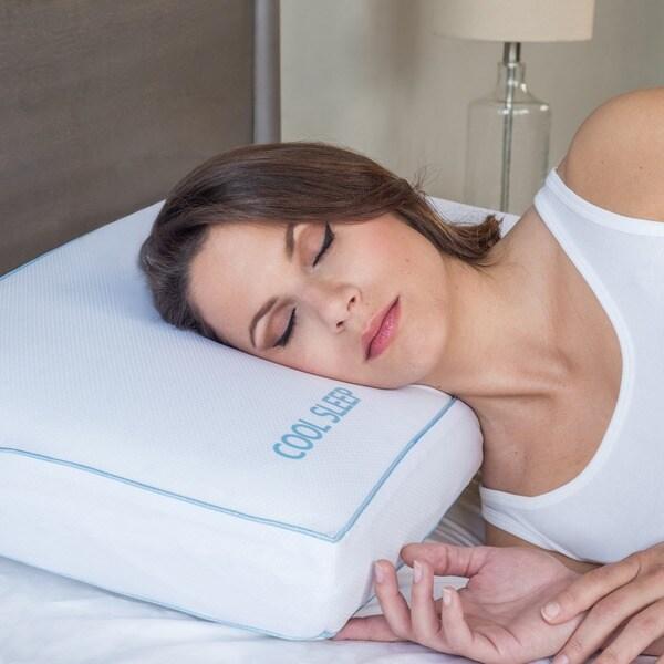 PostureLoft Glory Ventilated Gel Memory Foam Gusseted Pillow