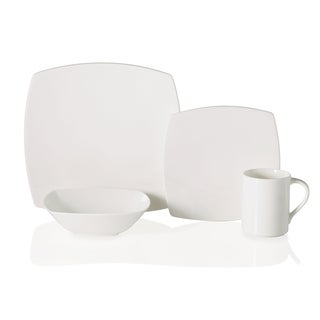 Mikasa Elegance White Bone China 4-piece Dishware Set