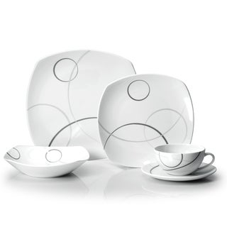 Mikasa Geometric Circles 5 Piece Place Setting