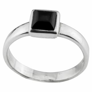 Haven Park Black Onyx Solitaire Ring