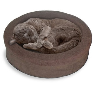 FurHaven NAP Snuggle Terry & Suede Oval Lounger Pet Bed