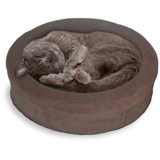 FurHaven NAP Snuggle Terry & Suede Oval Lounger Pet Bed (Option: Orange) https://ak1.ostkcdn.com/images/products/11816974/P18723537.jpg?impolicy=medium
