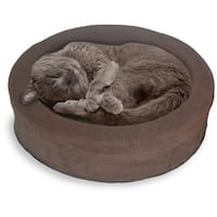 FurHaven NAP Snuggle Terry/Suede Oval Lounger Pet Bed