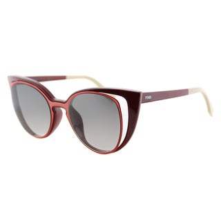 Fendi FF 0136 NZ1 Red And Orange Plastic, Metal Grey Gradient Lens Sunglasses
