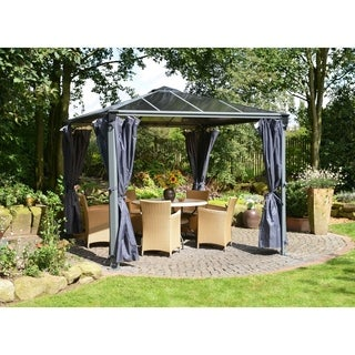 Palermo Grey 2-pack, 4-piece Gazebo Curtain Set