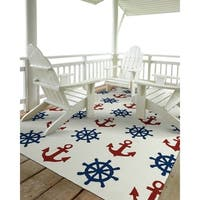 Indoor/Outdoor Beachcomber Helm Ivory Rug - 7'6 x 9'