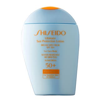 Shiseido Wetforce Ultimate Sun Protection SPF-50 Lotion for Sensitive Skin & Children|https://ak1.ostkcdn.com/images/products/11817100/P18723587.jpg?impolicy=medium