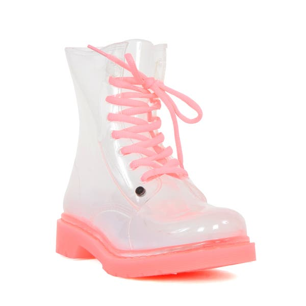 Clear Pink Rain Boots