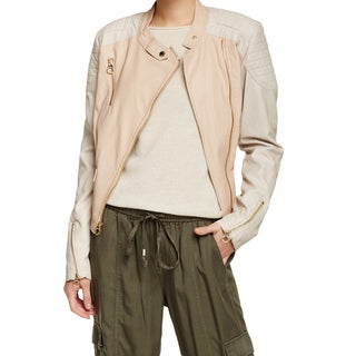 Laundry by Design Pink/Ivory Blush Faux Leather Jacket