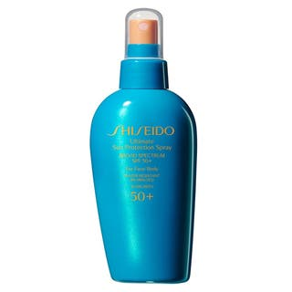 Shiseido Ultimate Sun Protection 5-ounce SPF50 Spray for Face and Body|https://ak1.ostkcdn.com/images/products/11817112/P18723590.jpg?impolicy=medium