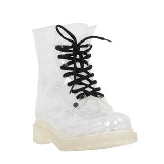 Mada Luxe Women's G 6 See-through PVC Low Heel Rainboot