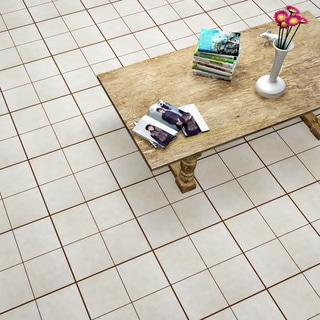 SomerTile 17.63x17.63-inch Jive Hueso Ceramic Floor and Wall Tile (Case of 5)
