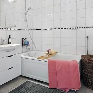 SomerTile 6x6-inch Malda Glossy White Ceramic Wall Tile (Case of 44)