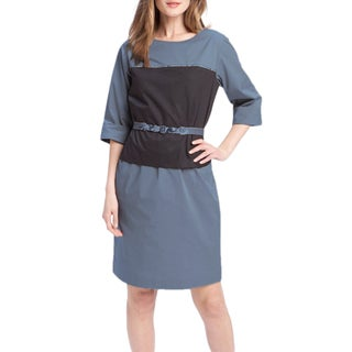 Elie Tahari Women's Blue Cotton-blend Chiles Dress