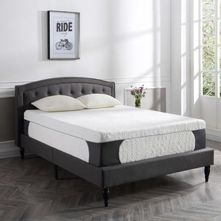PostureLoft Milan 14-inch California King-size Cool Gel Memory Foam Mattress with 2 Pillows