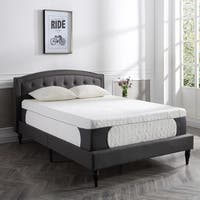 PostureLoft Milan 14-inch King-size Cool Gel Memory Foam Mattress with Two Standard Pillows