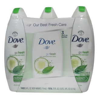 Dove Go Fresh Cool Moisture 24-ounce Body Wash (Pack of 3)
