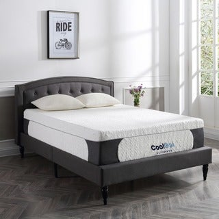 PostureLoft Milan 14-inch Queen-size Cool Gel Memory Foam Mattress with 2 Pillows