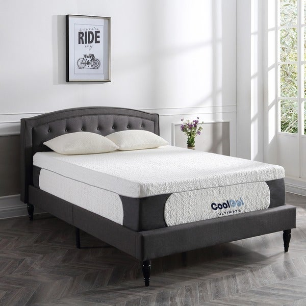 "Best 8/"" inch Mattress Bed Queen Size Cool Firm Memory Foam with 2 Pillows White"